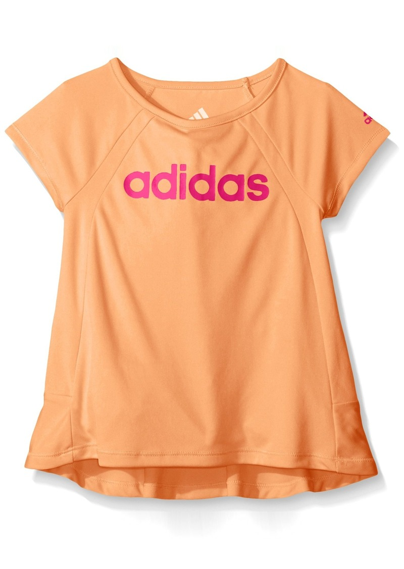 Adidas Little Girls' Short Sleeve Tee with Ruffle