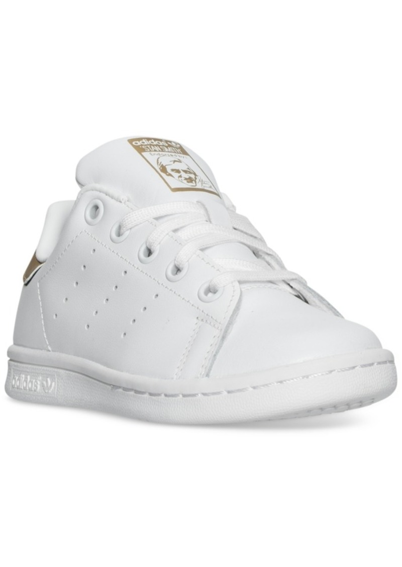 uk availability eda02 1f706 Little Girls' Stan Smith Casual Sneakers from Finish Line