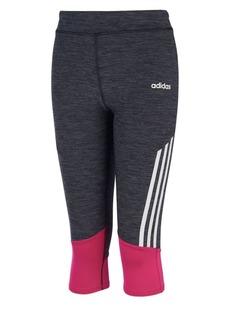 Adidas Little Girl's Striped Capri Tights