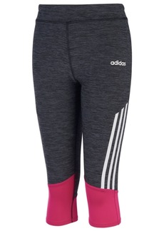 adidas Little Girls Striped Capri Tights