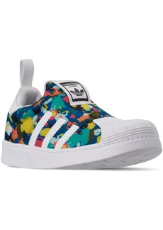adidas Little Girls' Originals Superstar 360 Slip-On Casual Sneakers from Finish Line