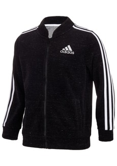 adidas Little Girls Velour Bomber Jacket