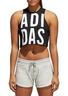 Adidas Logo Cropped Tank Top