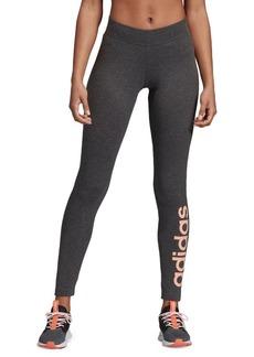 Adidas Logo-Print High-Rise Leggings