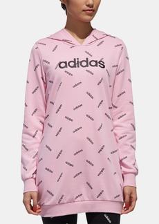 adidas Logo-Print Tunic Hoodie