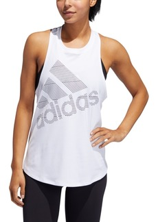 adidas Women's Logo Racerback Tank Top