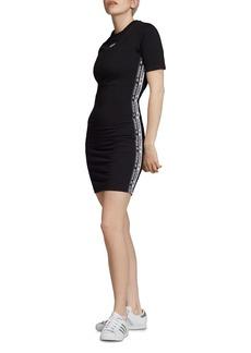 Adidas Logo-Trim T-Shirt Dress
