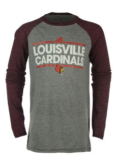 adidas Louisville Cardinals Dassler Tri-Blend Raglan T-Shirt, Big Boys (8-20)