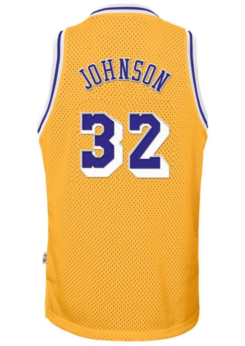 adidas Magic Johnson Los Angeles Lakers Retired Player Swingman Jersey, Big Boys (8-20)