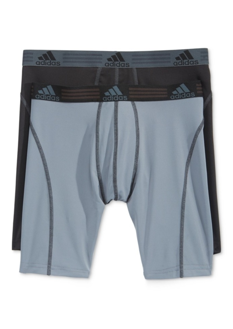 adidas Men's Climalite 2 Pack Midway Brief