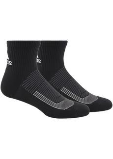 adidas Men's 2-Pack Superlite Ii Ub21 Black Quarter Socks