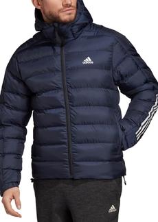 adidas Men's 3-Stripe Hooded Puffer Jacket