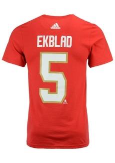 adidas Men's Aaron Ekblad Florida Panthers Silver Player T-Shirt