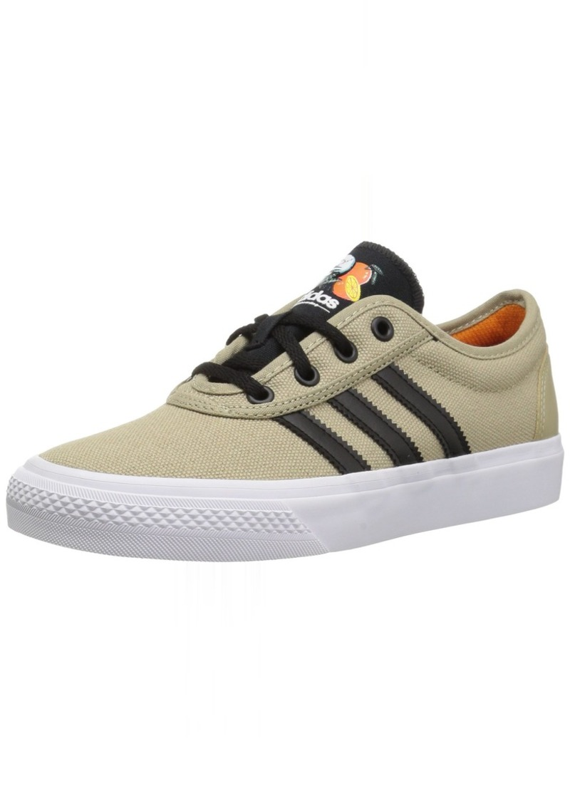 adidas Men's ADI-Ease Skate Shoe raw Gold s core Black FTWR White  M US