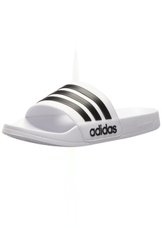 adidas Men's Adilette Shower Slide Sandal Black/White  M US