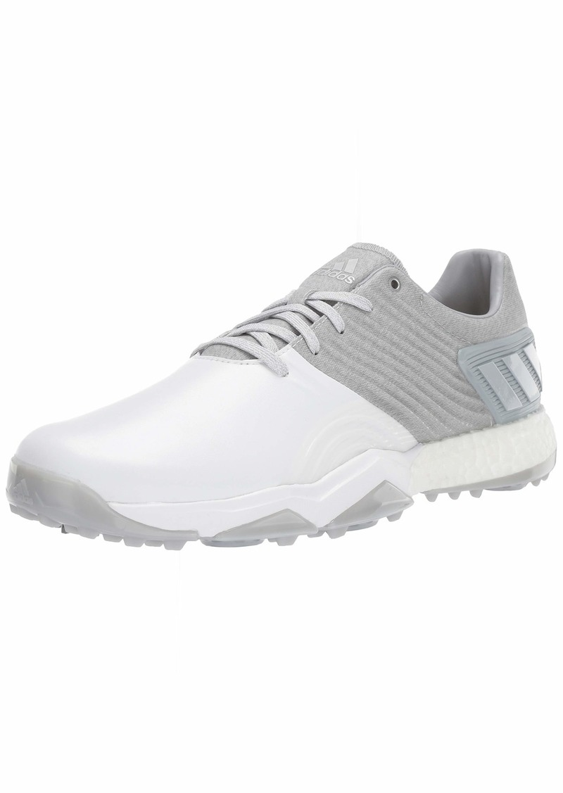adidas Men's Adipower 4ORGED Golf Shoe Clear Onix/Matte Silver/FTWR White 7 W US