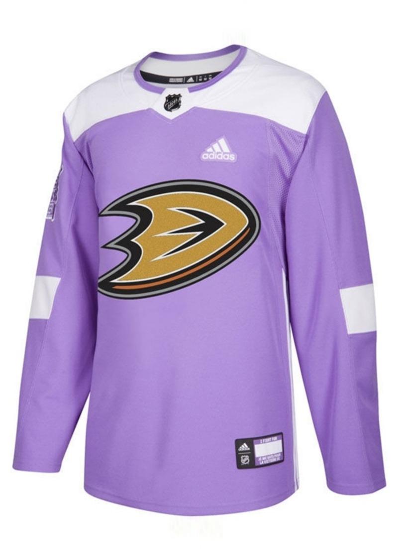 adidas Men's Anaheim Ducks Authentic Hockey Fights Cancer Jersey