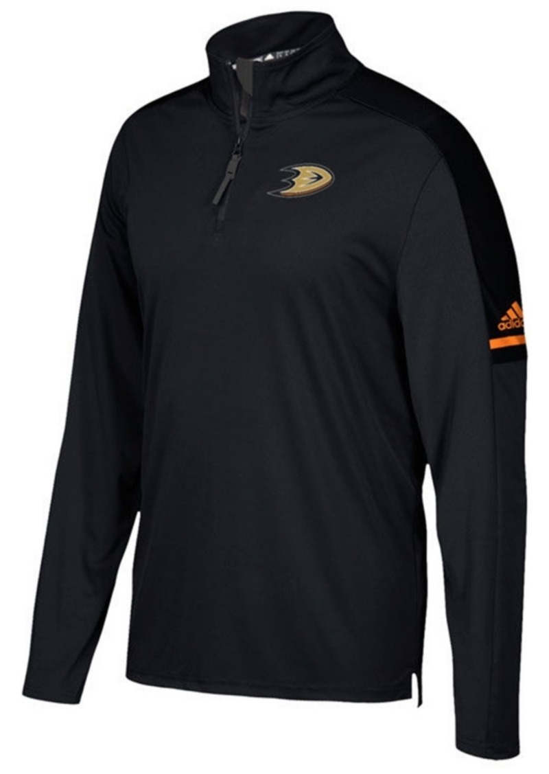 adidas Men's Anaheim Ducks Authentic Pro Quarter-Zip Pullover