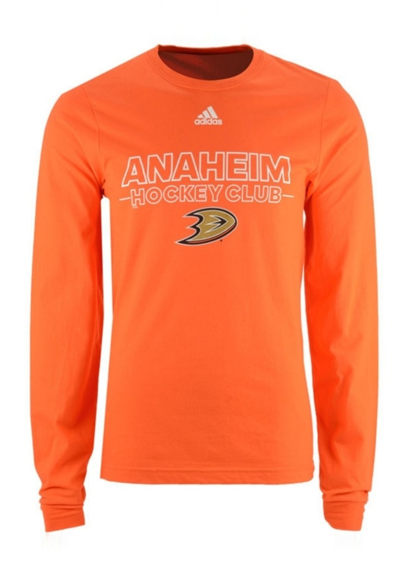 adidas Men's Anaheim Ducks Frontline Long Sleeve T-Shirt