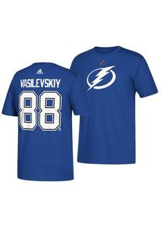 adidas Men's Andrei Vasilevskiy Tampa Bay Lightning Silver Player T-Shirt