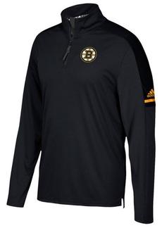 adidas Men's Boston Bruins Authentic Pro Quarter-Zip Pullover