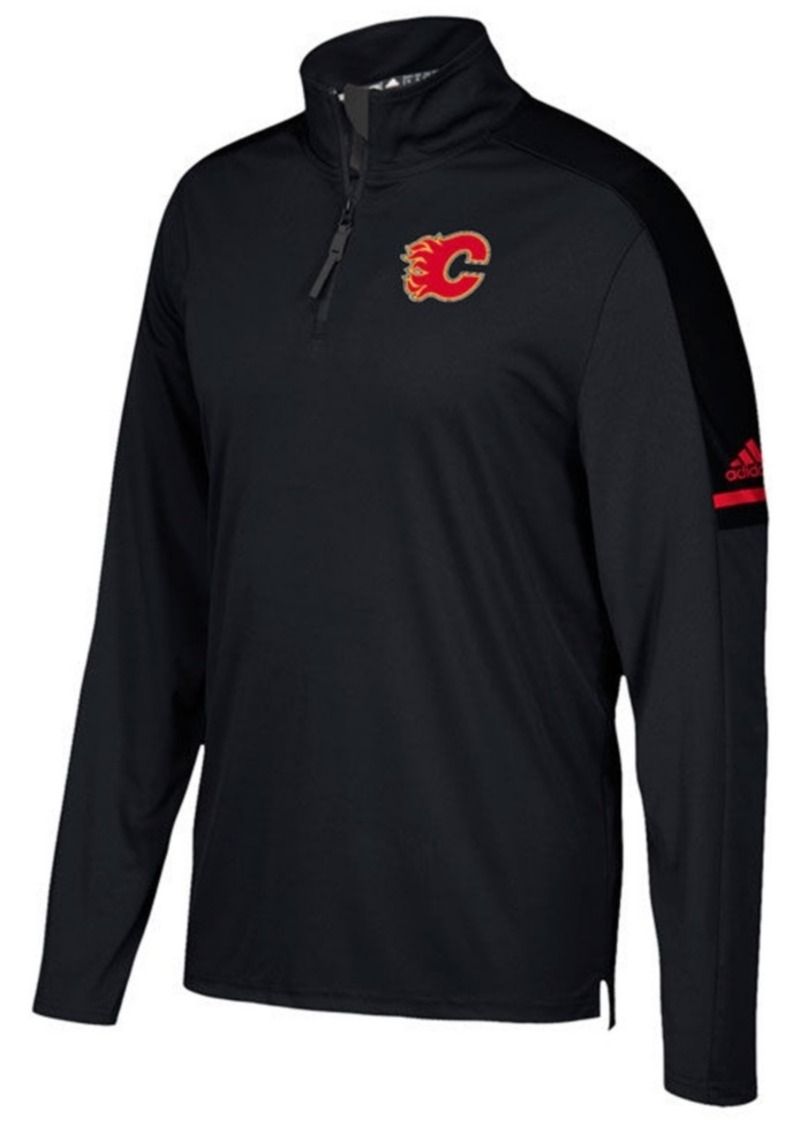 adidas Men's Calgary Flames Authentic Pro Quarter-Zip Pullover