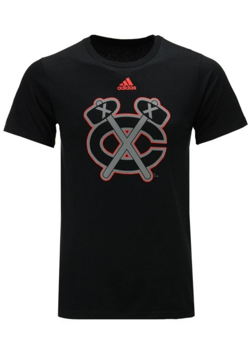 adidas Men's Chicago Blackhawks Ice Out Logo T-Shirt