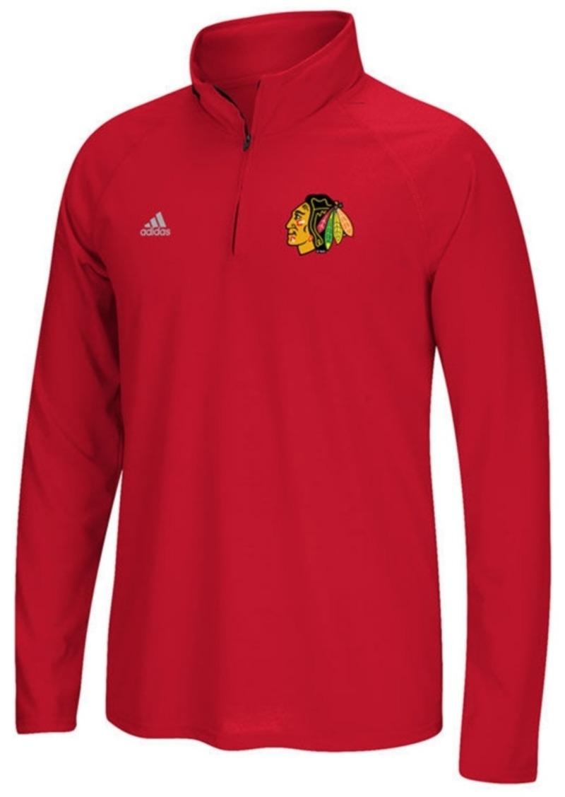 adidas Men's Chicago Blackhawks Left Defenseman Quarter-Zip Pullover