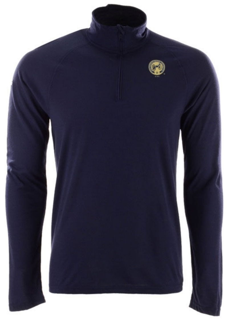 adidas Men's Columbus Blue Jackets Secondary Logo Climatelite Quarter-Zip Pullover