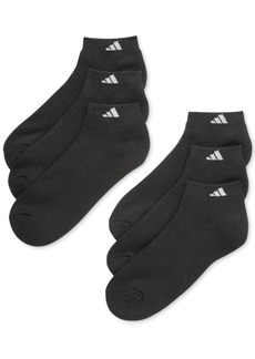 adidas Men's Cushioned Athletic 6-Pack Low Cut Socks