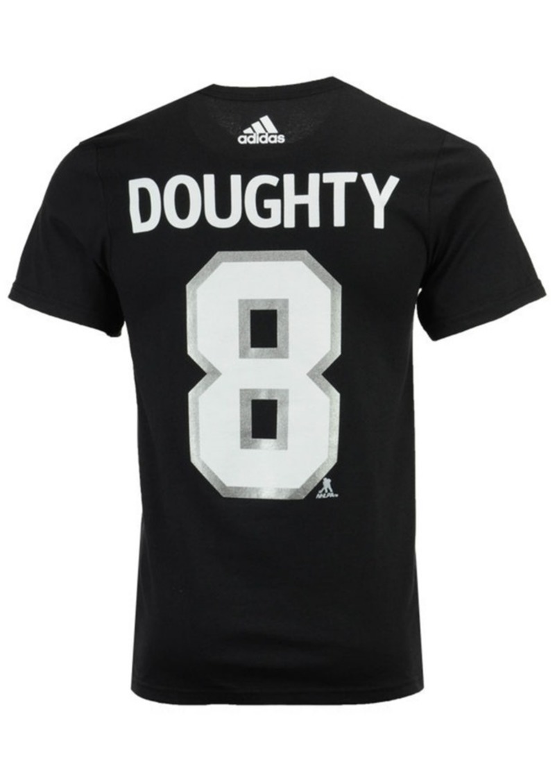 adidas Men's Drew Doughty Los Angeles Kings Silver Player T-Shirt