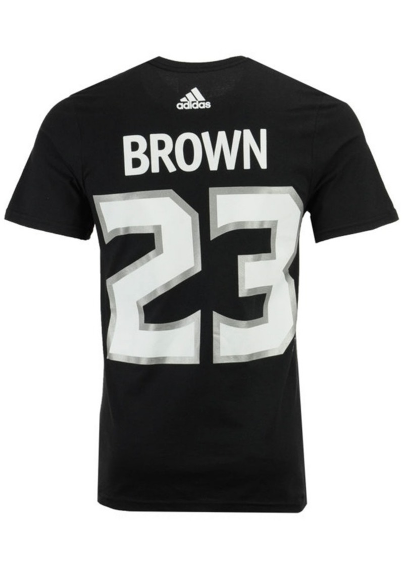 adidas Men's Dustin Brown Los Angeles Kings Silver Player T-Shirt