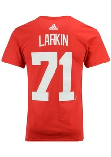 adidas Men's Dylan Larkin Detroit Red Wings Silver Player T-Shirt