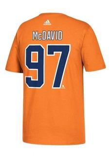 adidas Men's Edmonton Oilers Connor McDavid Silver Player T-Shirt