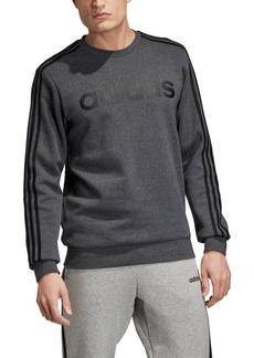 adidas Men's Essentials 3-Stripes Fleece Logo Crew