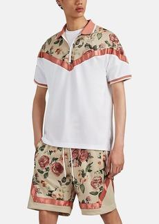 adidas Men's Floral Mesh Polo Shirt