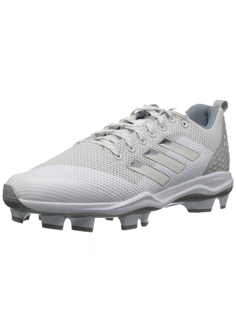 adidas Men's Freak X Carbon Mid Baseball Shoe FTWR White Silver met Light Grey  M US