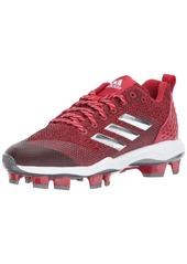 adidas Men's Freak X Carbon Mid Softball Shoe Power RED/Metallic Silver/White  Medium US