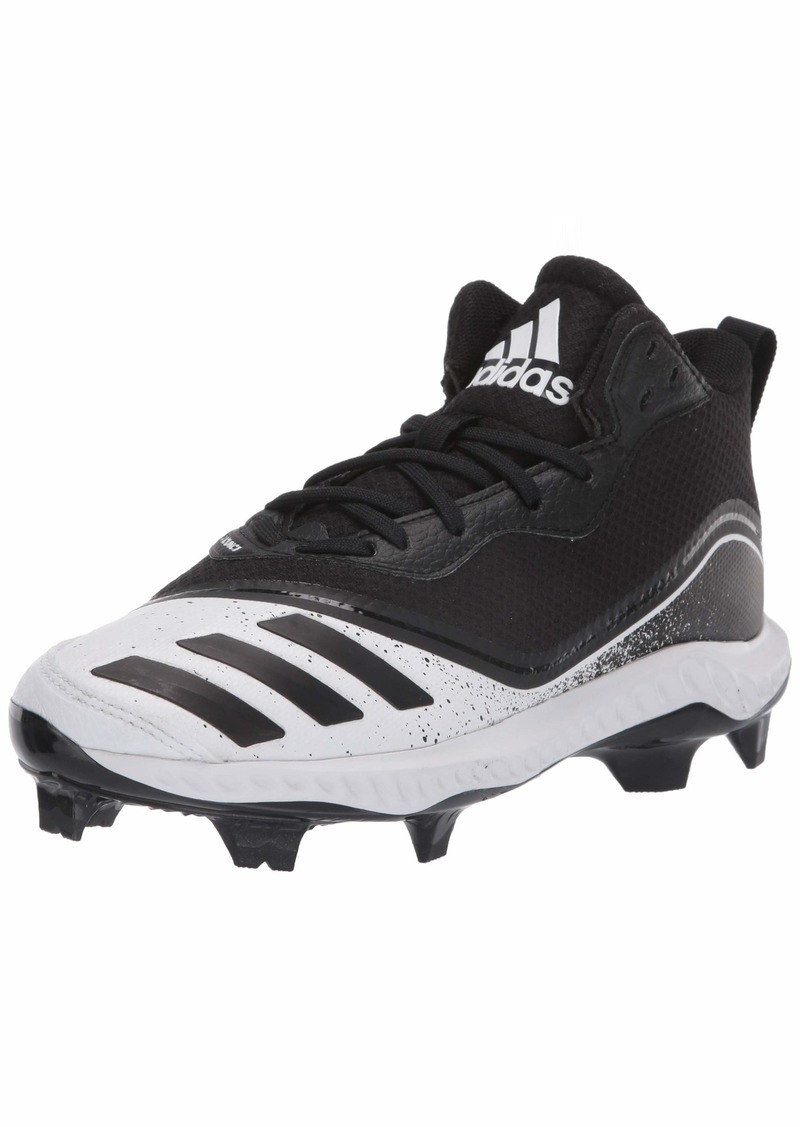 adidas Men's Icon V Bounce Mid TPU Baseball Shoe FTWR White/core Black/core Black  M US