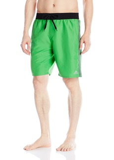 adidas Men's Iconic 3 Stripe Volley Swim Trunk