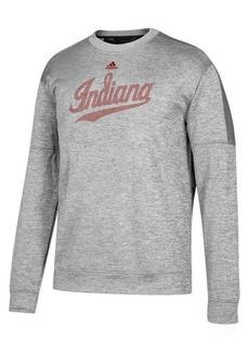 adidas Men's Indiana Hoosiers Linear Logo Crew Sweatshirt