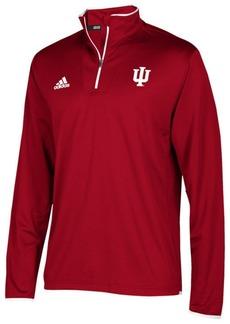 adidas Men's Indiana Hoosiers Team Iconic Quarter-Zip Pullover