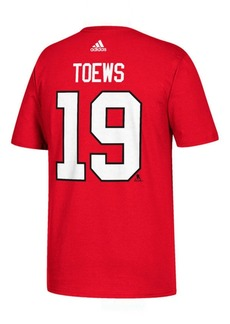adidas Men's Johnathan Toews Chicago Blackhawks Silver Player T-Shirt