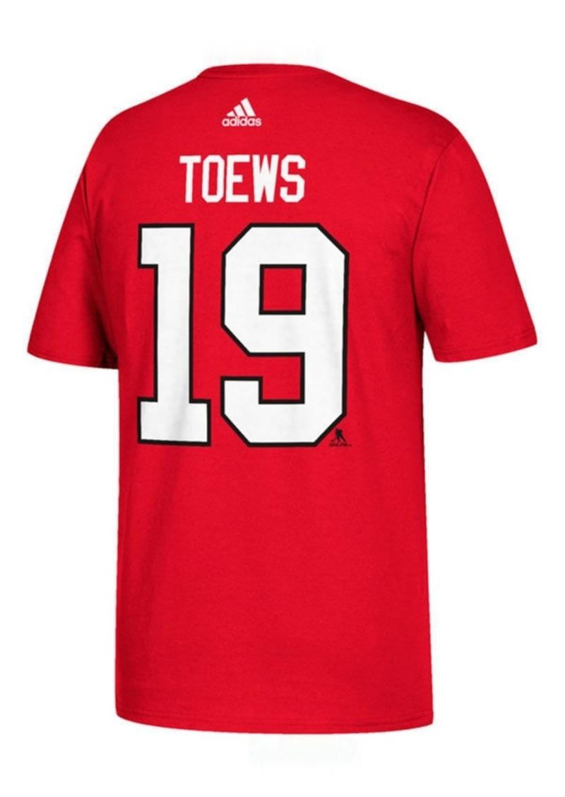 adidas Men's Johnathan Toews Chicago Blackhawks Silver Player T-Shirt