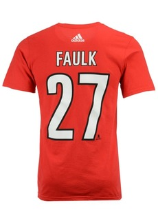 adidas Men's Justin Faulk Carolina Hurricanes Silver Player T-Shirt