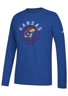 adidas Men's Kansas Jayhawks Center Court Long Sleeve T-Shirt