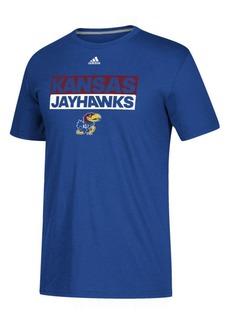 adidas Men's Kansas Jayhawks Performance Wordstack T-Shirt