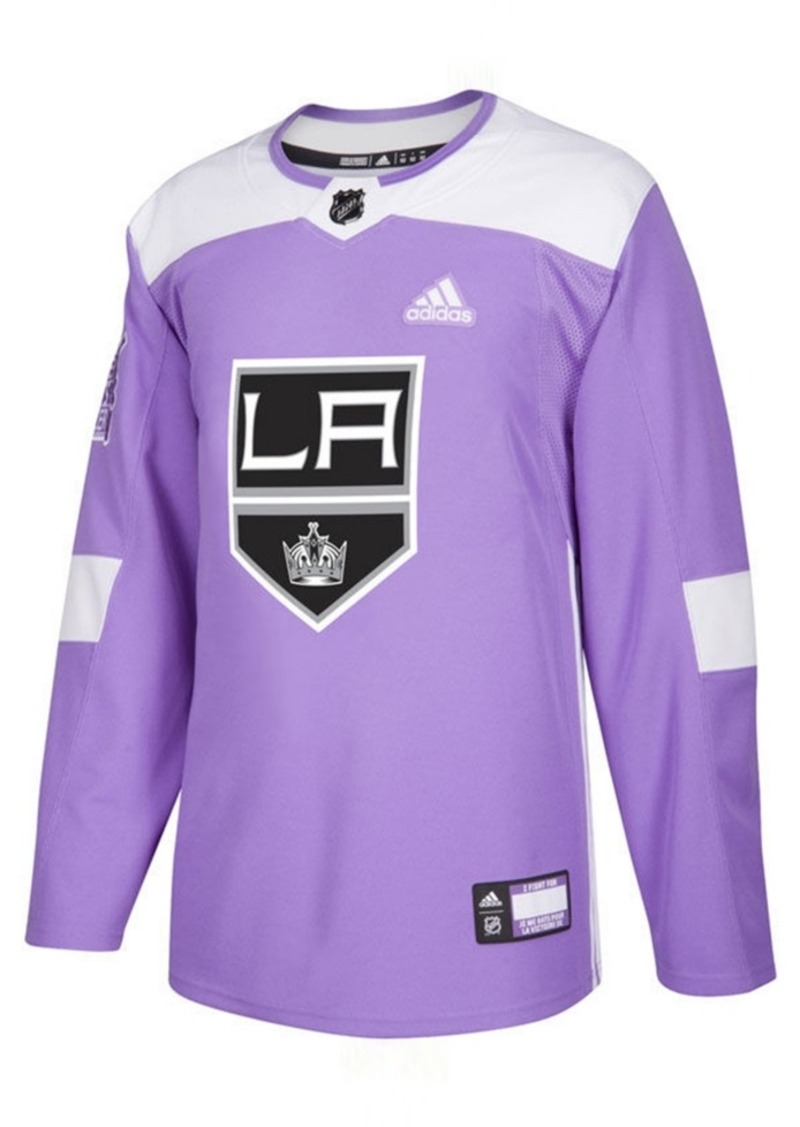 adidas Men's Los Angeles Kings Authentic Hockey Fights Cancer Jersey