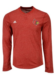 adidas Men's Louisville Cardinals Henley Long Sleeve T-Shirt