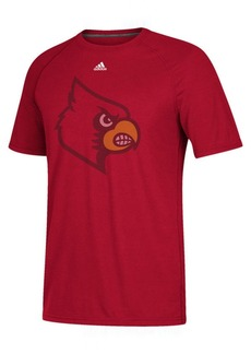 adidas Men's Louisville Cardinals Linear Play Logo T-Shirt